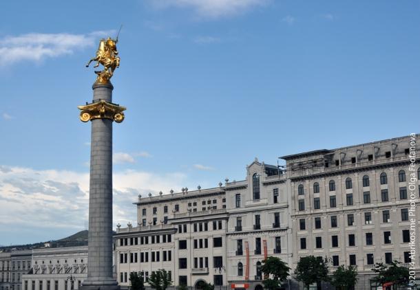 Площадь Свободы, Колонна Св.Георгия,Тбилиси