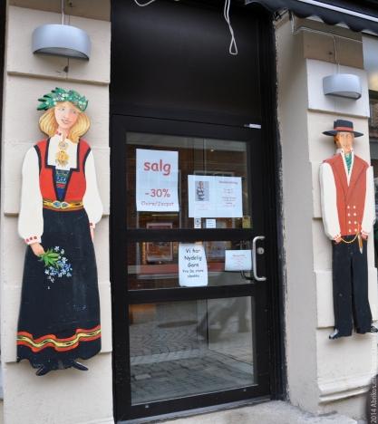 Магазин национальной норвежской одежды.