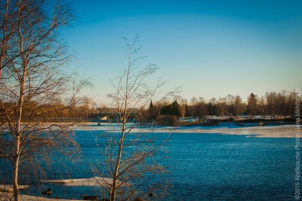 Город раскинулся у реки Оулуйоки.