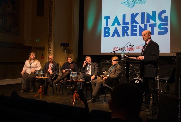 Участники панельной дискуссии «Talking Barents»/«Говорит Баренц»