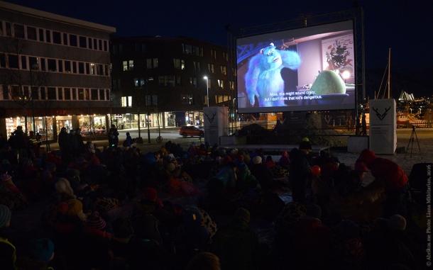 Уличный кинотеатр в Тромсе